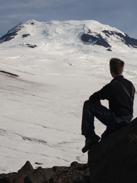 Birdkollen, flott utsikt mot toppen av Beerenberg